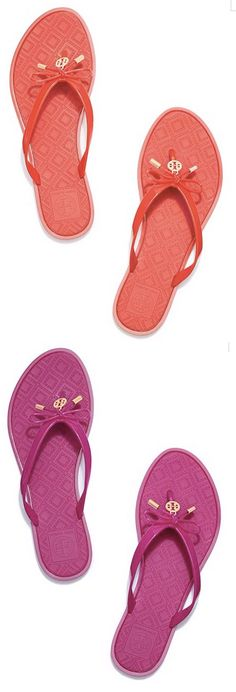 Love these colorful Tory Burch flip flops - now 40% off!