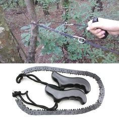 Buy Outdoor Survival Pocket Chain Saw Hand Chainsaw Camping Hiking Hunting Outdoor Emergency Kits Urban Survival, Survival Food, Wilderness Survival, Outdoor Survival, Survival Knife, Survival Prepping, Survival Skills, Outdoor Camping, Camping Survival