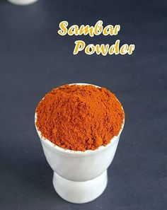 I have already posted a version of Sambar powder which is my MIL's version and is typical Andhra style and today I am posting my mom's ...