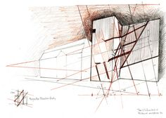 Architectural Drawings by Daniel Libeskind at Ermanno Tedeschi Gallery