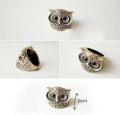 Exquisite jewelry owl ring - $4.99USD