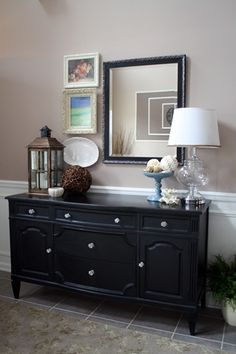 black buffet table that buffet i gave you would look way cool if painted black - Dining Room Buffet Decorating Ideas