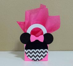 10 Chevron Minnie Mouse Pink Favor Boxes by CutePartySupplies