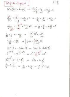 Solución del ejercicio 4 ecuaciones diferenciales homogéneas