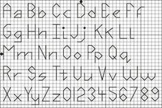 Resultado de imagen de letras lineales punto cruz