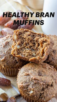 Healthy Muffin Recipes, Healthy Muffins, Vegan Breakfast Recipes, Vegan Recipes, Healthy Breakfasts, Vegan Sweets, Vegan Snacks, Easiest Bread Recipe No Yeast, No Bake Desserts