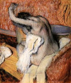 Edgar Degas: Woman drying Herself, 1889