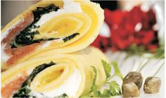 Health wrap stuffed with salmon, cream cheese, some green stuff and capers :)