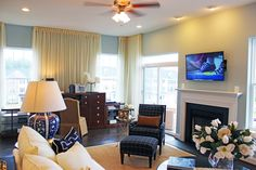 THE NELSON at Arcadia Fieldstone - http://www.arcadiafieldstone.com/arcadia-fieldstone/our-homes/the-nelson/ – in Winchester, VA  #luxurytownhomes #decorating #livingroom