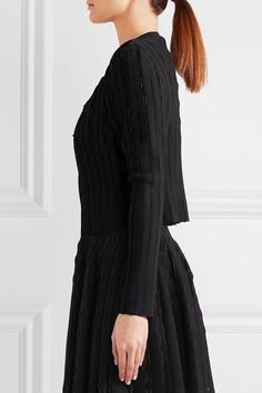 Alaïa - Stretch-knit Cardigan - Black - FR