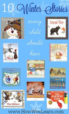 Breathtaking Winter books all kids should hear – How Wee Learn 10 Breathtaking Winter Books for Kids! These are excellent preschool holiday stories. Winter Crafts For Kids, Winter Kids, Preschool Winter, Preschool Seasons, Kindergarten Books, Preschool Books, Preschool Alphabet, Alphabet Activities, Educational Activities For Preschoolers