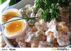 Salát s cottage sýrem recept - TopRecepty.cz Potato Salad, Potatoes, Ethnic Recipes, Cottage, Casa De Campo, Potato, Cabin, Cottages