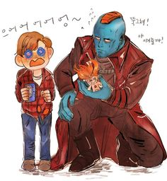 Peter Quill And Yondu Marvel Funny, Marvel Dc Comics, Marvel Heroes, Peter Quill, Loki, Gardians Of The Galaxy, Avengers, We Have A Hulk, Star Lord