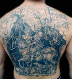 Durer woodcut tattoo....I don't usually gush over ink, but this is a major wow