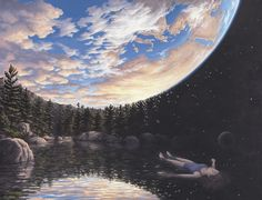 Mind blowing optical illusion paintings!! Artist: Canadian Rob Gonsalves!! #stunning!!