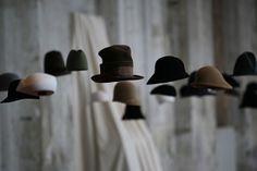 Kris Van Assche, Pitti Uomo 2007 Hat Display, Display Design, Product Display, Hat Shop, Beauty Shop, Theatre, Wall Lights, Concept, Interior Design