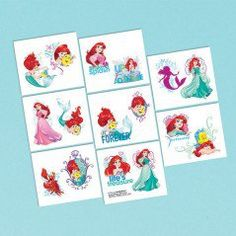Ordered from DiscountPartySuppies.com - Little Mermaid Dream Big Tattoos (16 Pack)