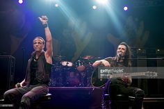 Gary Cherone and Nuno Bettencourt of Extreme perform on stage at The Forum on July 8, 2014 in London, United Kingdom.