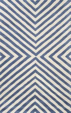 Savanna Chevron Geometric VE11 Blue Rug | Contemporary Rugs
