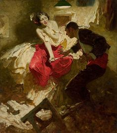 Dean Cornwell -The Red Shawl Hearst's International magazine illustration (1921)