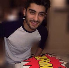 Zayn with his birthday cake