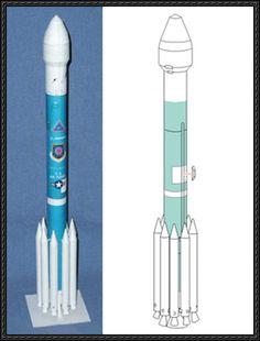 Delta II Rocket Paper Model Free Template Download - http://www.papercraftsquare.com/delta-ii-rocket-paper-model-free-template-download.html