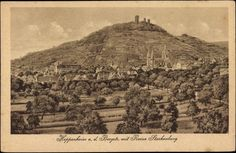 ... Postkarte Heppenheim an der Bergstr, mit Ruine Starkenburg | akpool.de