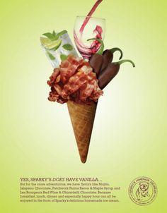 No son anuncios de helados