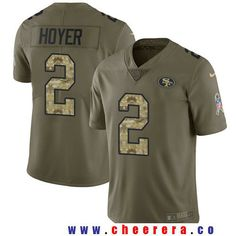 Men's San Francisco 49ers #2 Brian Hoyer Olive with Camo 2017 Salute To Service Stitched NFL Nike Limited Jersey