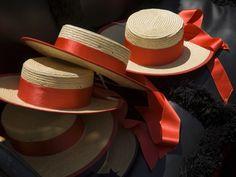 Gondoliers Straw Hats---Venice, Italy
