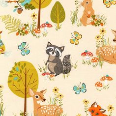Forest Fellows Cotton Print Fabirc Quilt and by LoveFabricIreland