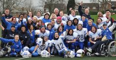 The Birmingham Lions Women's American Football Team on 2015 finals day,after winning the UK Sapphire Series for the second year in a row.
