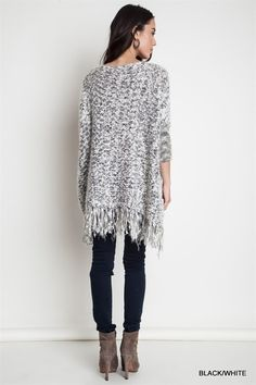 Chunky Frayed Sweater – ROUTE 32