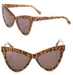 030bb4cd089 Stella McCartney 55MM Leopard-Print Cat s-Eye Sunglasses