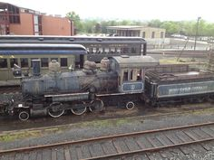 Old steam locomotive at the train museum in Scranton, PA.  Book research can be fun sometimes.
