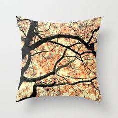 Magnolia Pillow, Decorative pillow, Pink Nature Pillow Cover, Plush Pillow, Throw Pillow