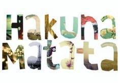 What a wonderful phrase Hakuna Matata! Ain't no passing craze It means no worries for the rest of your days It's our problem-free philosophy Hakuna Matata! Favorite Quotes, Best Quotes, Life Quotes, Favorite Things, Wall Quotes, Quotes Quotes, Awesome Quotes, Movie Quotes, Life Sayings