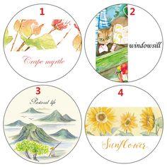 Sunflower Cat Window Seasons 7M Washi Paper Tape Paper Masking Tape Memo Pad XQT0416-009 #Affiliate