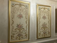 Wall Painting Decor, Wall Paintings, Painted Curtains, Wall Molding, Button Art, Stencil Designs, French Decor, Gold Paint, Dream Bedroom