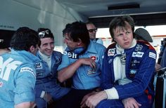 """Tyrrell:""""What's wrong with Ronnie?"""" Depallier:"""" He doesn't get the joke about six wheels!"""""""