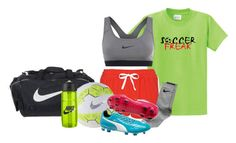 """""""soccer skills session :3"""" by mikaela-madrid ❤ liked on Polyvore featuring Topshop and NIKE"""