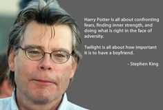 Thank you Stephen King... HP is so much better.