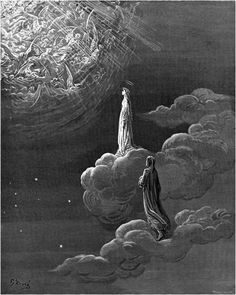 Dante and Beatrice translated to the sphere of Mars
