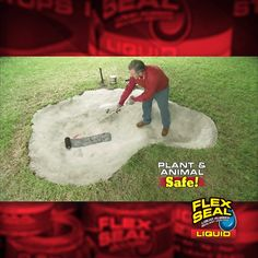We lined a pond to show you the AMAZING power of Flex Seal® Liquid! When Flex Seal Liquid is fully cured, it is safe around plants and animals.⠀ garten videos DIY Pond with Flex Seal Liquid® Backyard Patio, Backyard Landscaping, Backyard Ideas, Pond Ideas, Landscaping Ideas, Fish Ponds Backyard, Patio Pond, Koi Fish Pond, Backyard Playground