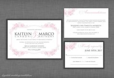 The Kaitlyn Garden Wedding Invitation Suite - Krystals Wedding Invitations  #wedding #weddings #weddinginvitation #weddinginvitations