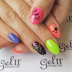 #80snails #acrylicnails #l&p #gelpolish #geltwo #gelii #gel2 #gel2art #gel2fanatic #beachboardwalk #coralreef #bluecoconut #limeade #pinkumbrella #nailart #nails #almondnails #rad #tarafiednails @gel_two
