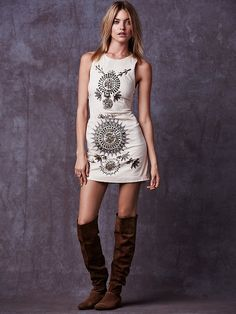 Free People Gold Mine Dress at Free People Clothing Boutique