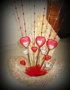 heart chocolate bouquet