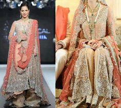 Latest Stylish Bridal Sharara Designs For Bride Sharara Designs, Bridal Dupatta, Pakistani Wedding Dresses, Pakistani Sharara, Pakistani Couture, Wedding Dresses For Girls, Girls Dresses, Dresses 2014, Women's Dresses
