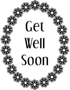 Get well soon printable printables Pinterest Cards Card
